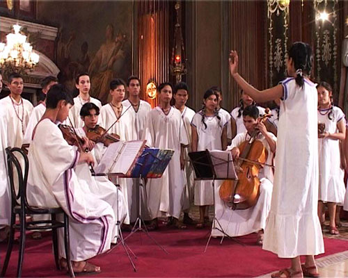 Chiquitanias choir performing sacred music