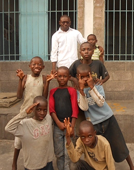 Many children in the Republic of the Congo call the streets their home.