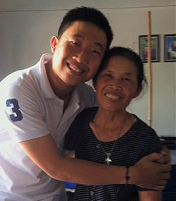Hoang Do and his mother
