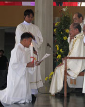 Fr. Aris Martin, SVD at his ordination in the Philippines