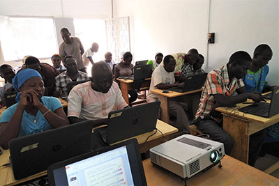 Computer students in the Republic of Chad