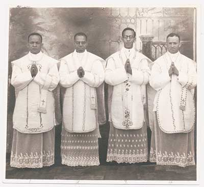 First four African American priests ordained by the Society of the Divine Word