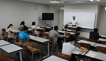 An SVD priest teaches a class at Nanzan University in Japan