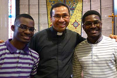 Fr Sonny DeClass SVD reunites with friends from Angola